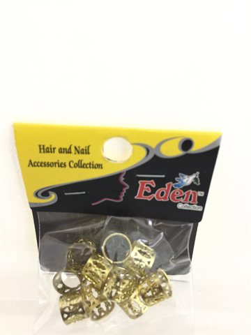 Hair beads Metal Gold colour 10 Pcs..