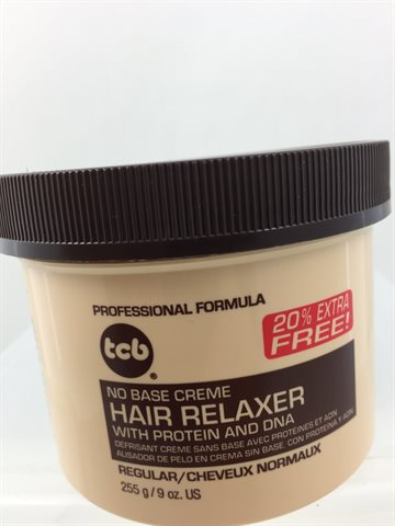 Tcb hair relaxer regular in jar 255 gr.