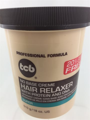 Tcb hair relaxer super in jar 510 gr