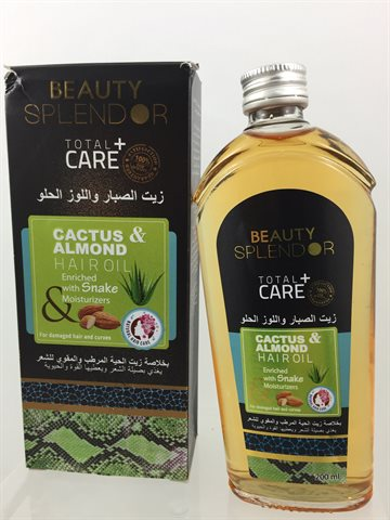 Cactus & Almond Hair Oil Enriched with Snack Moisturizers 200 ml