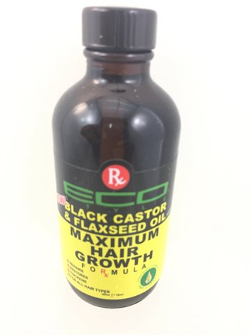 ECO Black Castor & Flaxseed Oil Maximum Hair Growth 118 ml. (UDSOLGT)