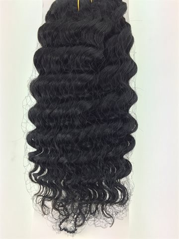 "New deep wave colour 1, jet black, 10"" (12,5  cm long)"