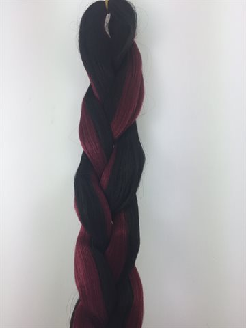 Exception  Braid Hair, Hot water (kanekalon) 165 Gr Colour P1B/Burg