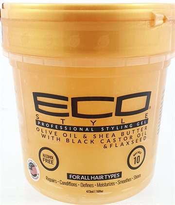 ECO Gel Gold. Olive oil & shea Butter With Black Castor Oil & flaxseed Oil & flaxseed. 473 g.