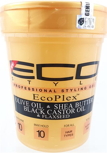 ECO Gel Gold. Olive oil & shea Butter With Black Castor Oil & flaxseed Oil & flaxseed. 946 g.