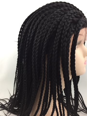 Wig in Braid Front Lace Wig 14# colour 1 (UDSOLGT)