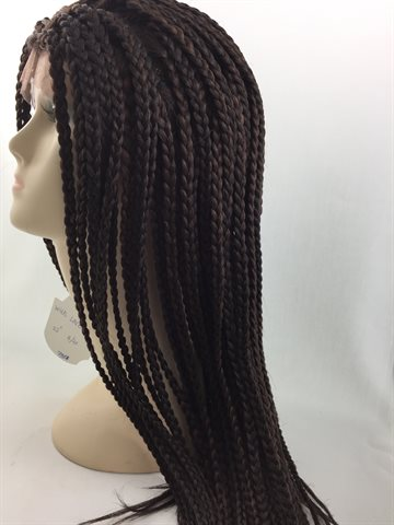 Wig in Braid Front Lace Wig 22 inches(55 cm) colour 4/30