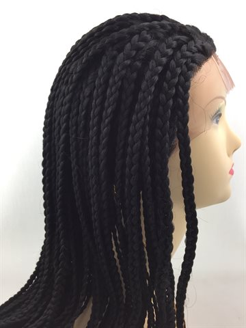 Wig in Braid Front Lace Wig 22 inches(55 cm) colour 1