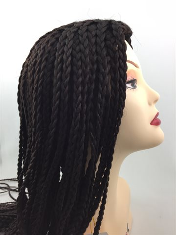 Wig in Braid Front Lace Wig 22 inches(55 cm) colour 4