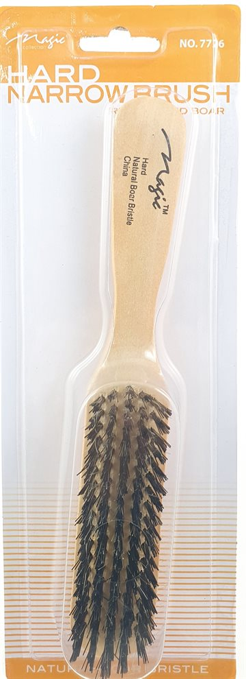 Comb, Brush -  Wood Handle Hard brush 7726