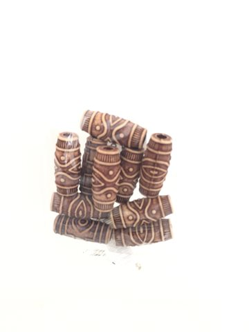 Hair beads (Perler) Wooden 10 Pcs..