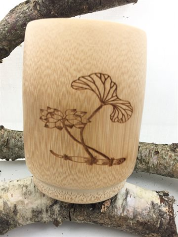 Wood Cup Natural Classical Handcrafted
