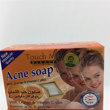 Touch Me Acne Soap with Orange and Vitamin C plus135 Gr