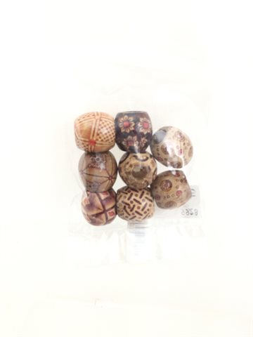 Hair beads (Perler) Wooden 8 Pcs..
