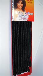 Double drawn Dreadlocks hair colour 1- 70cm length 15pcs. in a pack (UDSOLGT)