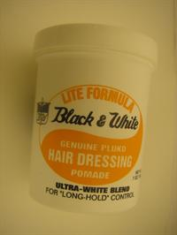 Black & White hair dressing pomade (lite formula)