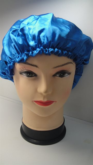 Hair Cap Royal Blue Colour satin Sleep night Head Cover Bonnet Hat for Curly Springly Hair