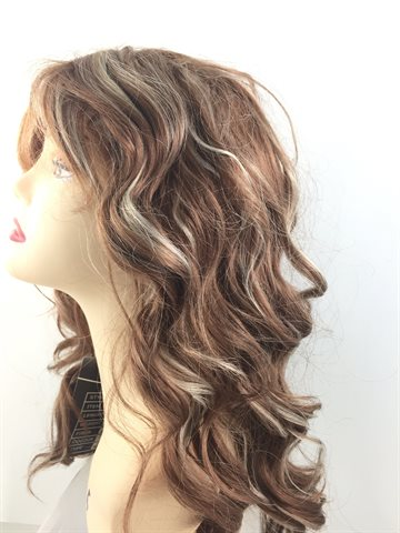 "Wig Curly colour P27/613- 4"" - !8"""