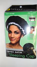 Hair cap black - Hår Hue (sleeping cap) Large deluxe Satin
