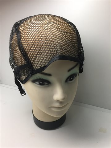 Wig Net cap Wig Making - Black (Sort) Full lace Adjustable