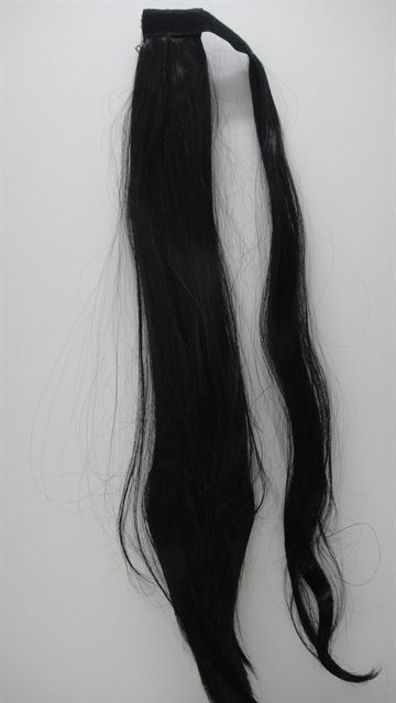 Hair Syntetetic Pony Taila 50 Cm Long 80 Gr. Clip on. Colour 1B